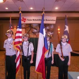 Color Guard at opening ceremony.