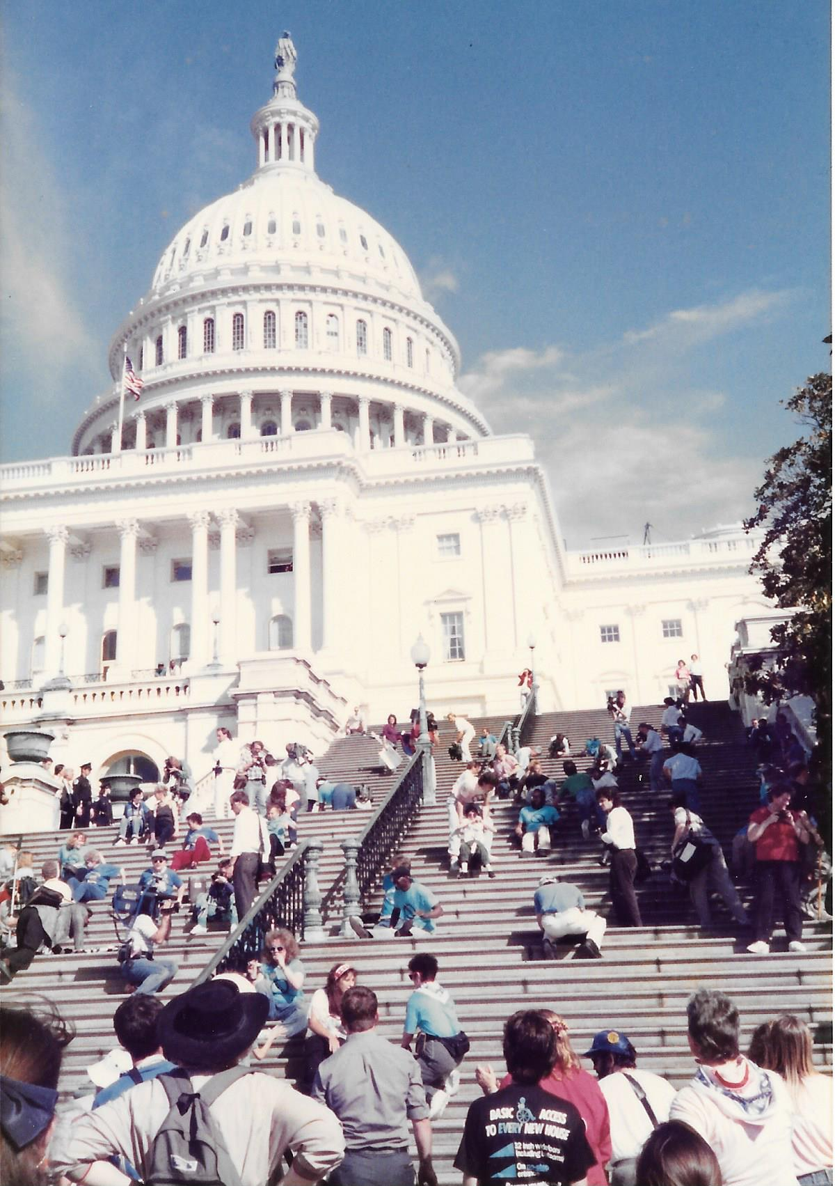ADA Demonstration at Capital 1990