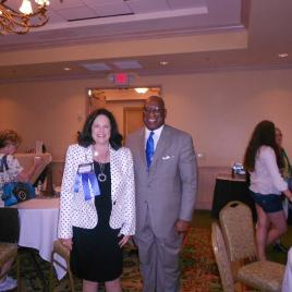 TRA President Susan Lindsey and DARS Regional Director Ron Fleming.