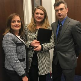 L-R are Susan Rapant, Congressman Ted Poe's Executive Assistant Maddie Hoburg, and Jonathan Mize.